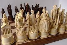 Станислав / Luxury amber chess set