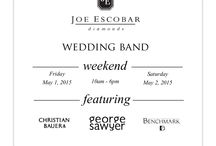 Joe Escobar Diamonds Wedding Band Event / In honor of the Wedding Band Event being held this weekend (May1 and May2 2015) at Joe Escobar Diamonds, we have created a board with our favorite mens wedding band designs.