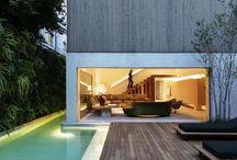 Modern lap pool