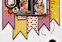 Disney scrap album layout