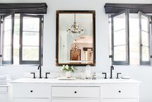 Bathrooms / Bathroom and powder room interior design inspiration.