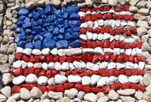 PAINTED ROCKS AND MOSAIC / by Lorie Kennaley