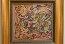 Driven to Abstraction / Some gorgeous abstract and modernist artwork from estate sales past and present...