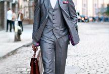 look 2 / Eccentric, dapper, dandy, John Steed, Bowler Caps, Umbrellas.   / by Justin pawlowski
