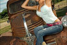Trucks & beautiful women / Trucks & beautiful women