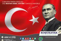10 KASIM ATATÜRK'Ü ANMA GÜNÜ VE ATATÜRK HAFTASI / Türkiye Cumhuriyeti'nin kurucusu Gazi Mustafa Kemal Atatürk'ü anma günü ve Atatürk haftası