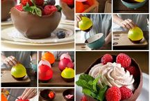 Chocolate bowls.