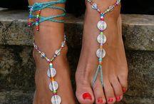 Barfuß Sandalen