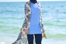 fashion - hijab at beach