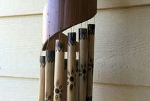 Bamboo spiral wind chimes