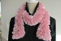 Beautiful Pink  Ruffle Scarf