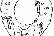 Christmas wreath coloring pages / This page has lots of free christmas coloring pages for kids,parents and teachers.
