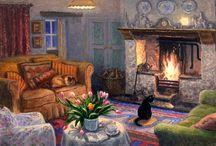 Art ~ Illustrated Home ♦ Garden