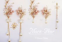 Chantal Mallett Earrings: Marie Antoinette Collection