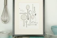 kitchen kitsch / utensils, prints, bowls, glassware...any and everything beautiful that belongs in a kitchen. / by food + words