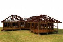 maison polynesie / maison bois en Polynésie, tahiti, moorea,