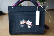 Catoo Art / My cats - bags, cellphone and smartphone cases, tablet cases, everything with cute cats and some other animals, made of felt.