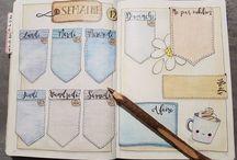 Bullet Journal / Desde spreads a dicas, ideias de páginas e desenhos.