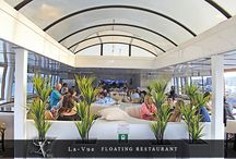 "La Vue Floating Restaurant & Events Venue / A luxurious venue on water…La Vue is the only 5 Star Floating Restaurant and Events Venue in South Africa. Open 6 days a week, this 85 foot luxury catamaran offers a variety of recreational entertainment options. Set sail on this magnificent 200 seater passenger vessel, and live your own ""city experience."""