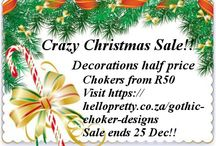 Christmas sale / Crazy pre-Christmas sale at Gothic Choker Designs! Please visit https://hellopretty.co.za/gothic-choker-designs. Worldwide delivery.