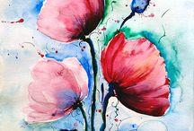 Blumen-aquarell