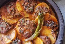Les recettestajine viande hache boeuf pdt