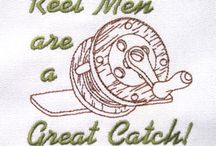 Masculine Embroidery Designs for Men & Boys / Embroidery designs for men, teens and boys for home machine embroidery. Fishing , sports, hunting and masculine embroidery designs.