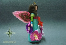 [My Work] Fairies, elves and other beings... / [Kathamina / Kawool] Handmade by Catarina Pereira