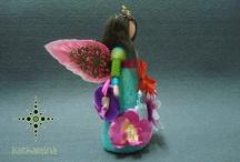 [My Work] Fairies, elves and other beings... / [Kathamina / Kawool] Handmade by Catarina Pereira / by Catarina Pereira