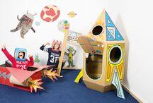 Basteln mit Pappkarton // Cardboard DIY / Bastelideen für Kinder aus Pappkartons, Upcycling Ideen fürs Kinderzimmer, DIY, Spielen und Beschäftigung