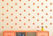 vinilos decorativos infantiles con patrones / vinilos infantiles con divertidos patrones para que puedas crear tu propia composición o diseño.