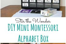 alphabets for preschool - montessory