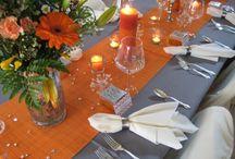 Pumpkin and Slate Wedding Colour Theme