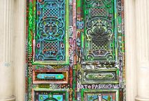 Doors & Gates / Tall, short, wide, narrow, arched, square, round, new, old, fresh paint, old paint, chipping paint and made from a variety of materials - doors and gates are the portals to the beyond.  In all shapes, forms, and countries, they are often unusual, and always interesting.