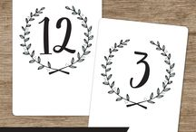 Wedding Table Numbers, Place Cards & Tags