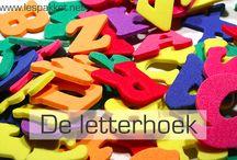 Lees/letter/schrijfhoek kleuters