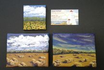 Big Ideas; Small Works / Canvas paintings less than 40 square inches--a challenge!