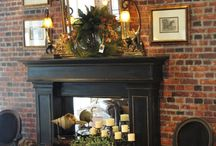 Faux fireplace/ mantle