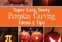 Halloween Fun / Have fun with these awesome activities for Halloween that aren't too spooky! pumpkin carving and other fun activities for Candy Night! Curated by thatgeekishfamily.com