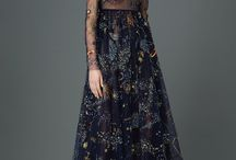 Into the Woods / 70's + botanical florals  Dark grounds Valentino  Antonio Marras Chloe