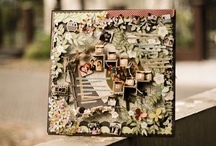 Claire's Scrapbook Page / Handmade scrapbook page by Clairine Antonio. with little sense of architecture and different themes
