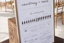 SIGNAGE + HELPFUL THINGS {wedding stationery} / All things to help guests (+ you) have a fun wedding day!