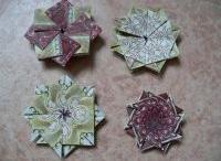 Teabag folding, iris folding