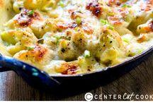 food - cauliflower + brocolli au gratin