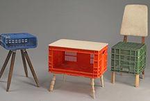 újrahasznosított elemekből álló bútorok