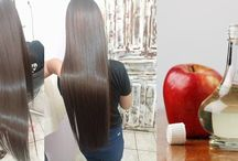 reconstrução do cabelo.c vinagre de maçã..