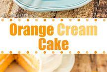 pastel de naranja