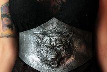 wolf viking Belt