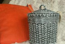 Pletení z papíru, Paper weaving basket