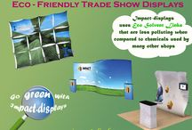 Eco Friendly Trade Show Exhibits / www.Impact-displays.com is the right choice for environmental eco friendly green displays. Go green with Impact-displays